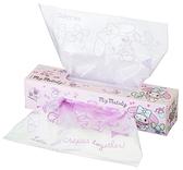 〔小禮堂〕美樂蒂 盒裝抽取式防油透明塑膠袋《40入.粉.可麗餅》食物袋.餅乾袋 4973307-47034
