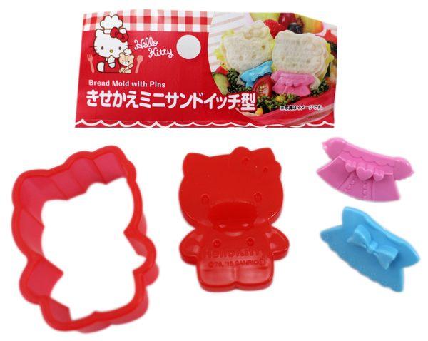 【卡漫城】 Hello Kitty 吐司 模型 紅 ㊣版 日版 模具 壓模器 模形 飯糰 造型 凱蒂貓 米飯白飯 餅干