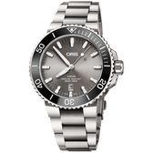 Oris豪利時 Aquis 時間之海鈦合金潛水300米日期機械錶-43.5mm 0173377307153-0782415PEB