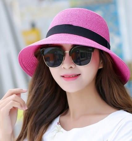 [協貿國際]  女士夏季防曬可折疊盆帽大沿涼帽 (1入)