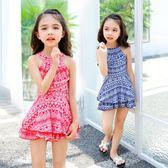 韓國女童連體泳裝大中小童女孩可愛連體裙式游泳衣 AW486『男人範』