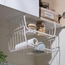 櫥柜下廚房置物架多功能免打孔吊式隔板吊柜下掛籃整理架子收納架 【科炫3c】