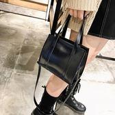 手提包 秋冬新款潮女包素色手提包港風復古油皮側背包簡約大氣斜背包 伊羅鞋包