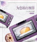 電烤箱 Loyola/忠臣 LO-15L多功能 電烤箱 家用烘焙蛋糕迷你小 烤箱220vigo    唯伊時尚
