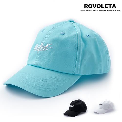精緻袖字老帽.棒球帽【BY-12】(ROVOLETA)
