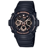【CASIO】G-SHOCK 潮流專屬休閒錶-玫瑰金(AW-591GBX-1A4)