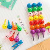 【BlueCat】糖葫蘆妙表情彩色七子彈頭塗鴉蠟筆