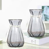 現貨  2個歐式玻璃花瓶透明水培植物插花花瓶裝飾擺件【3C玩家】