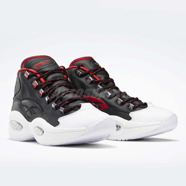 Reebok 籃球鞋 Question Mid OG Meet 黑 紅 男鞋 Harden 經典配色 運動鞋 復古 【PUMP306】 FZ1365