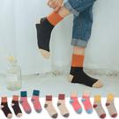中筒襪-正韓糖果色系馬卡龍色拚色加厚保暖羊毛中筒襪 長襪 羊毛襪【AN SHOP】