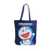 深藍款【日本進口】哆啦a夢 DORAEMON 帆布 托特包 肩背袋 手提袋 小叮噹 - 170265