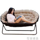 懶人沙發歐式雙人布藝沙發單人沙發摺疊沙發椅家用休閒椅   igo 小時光生活館