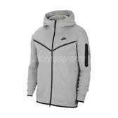 Nike 外套 Sportswear Tech Fleece 灰 黑 男款 連帽外套 棉質 運動休閒 【ACS】 CU4490-063