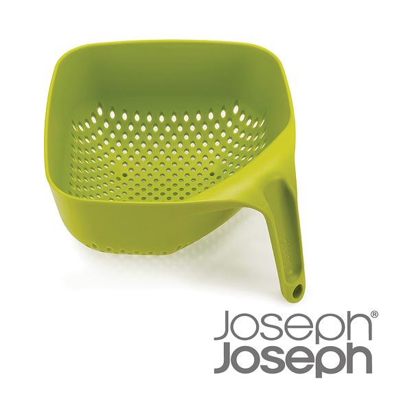 英國 Joseph Joseph 好好握方形可堆疊濾籃-白/綠兩色可選