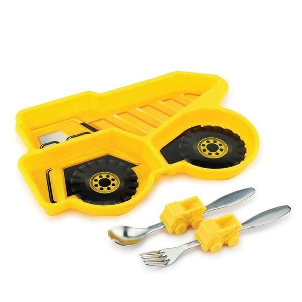 KIDS FUNWARES 造型兒童餐盤組/兒童餐具-工程車【總代理公司貨】