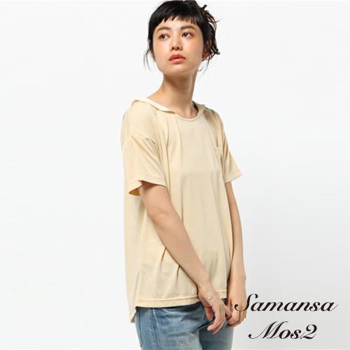 ❖ Hot item ❖ 素色水手領口袋上衣 (※提醒 : SM2僅單一尺寸) - Sm2