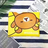 【KP】拉拉熊 黃色扁平袋 收納袋 SAN-X 懶懶熊 小物整理 正版授權 4718733234444