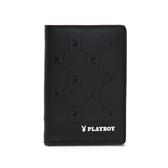 PLAYBOY- 護照夾 黑暗騎士upgrade系列 -黑色
