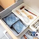 抽屜整理分隔收納盒塑料廚房餐具桌面分格盒【古怪舍】