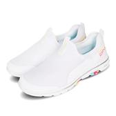 Skechers 休閒鞋 Go Walk 5-Parade 白 彩色 套入式 懶人鞋 女鞋 【PUMP306】 124034WMLT