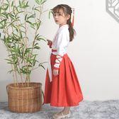 兒童古裝女童漢服中國風演出服書童國學男童舞蹈表演服裝