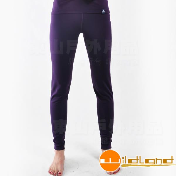 Wildland 荒野 0A22686-79深紫色 中性輕量銀離子抗菌保暖褲