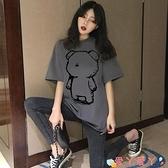短袖T恤純棉短袖T恤女2021夏季新款寬鬆韓版時尚洋氣網紅ins潮半袖上衣服 愛丫 新品