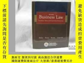 二手書博民逛書店Business罕見Law: The Ethical Global And E-commerce Environm
