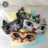 笔袋 筆袋韓國簡約女生小清新可愛貓咪創意小學生文具鉛筆文具盒收納袋·夏茉生活