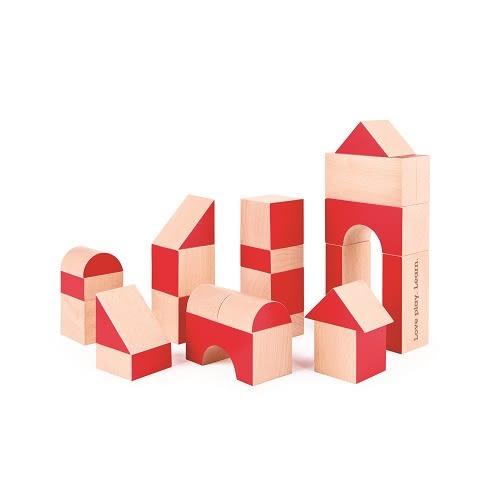 德國Hape愛傑卡 -彩色創意積木組30塊(30周年限定版) 879元