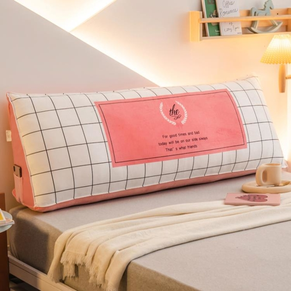 ins風床頭靠墊臥室網紅大靠背雙人軟包榻榻米沙發長靠枕可拆洗