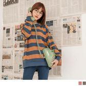 《AB8789》高含棉復古配色橫條紋上衣 OrangeBear