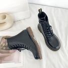 馬丁靴女英倫風 新款百搭薄款透氣單靴 瘦瘦短靴子夏 快速出貨