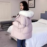 羽絨棉衣女中長款棉襖2019年新款潮冬季韓版寬鬆棉服bf外套面包服 嬌糖小屋
