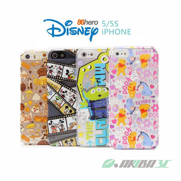 iPhone 5 / 5S 迪士尼90週年 86hero 小熊維尼 透明硬式保護殼 秋葉原精品3c