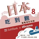 《日本中毒者》8天日本上網中毒者專用高速4G不降速吃到飽方案/日本旅遊網卡/日本旅遊