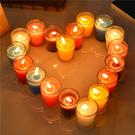 浪漫精油無煙去味生日禮物表白求婚香薰蠟燭玻璃杯香氛室內助眠