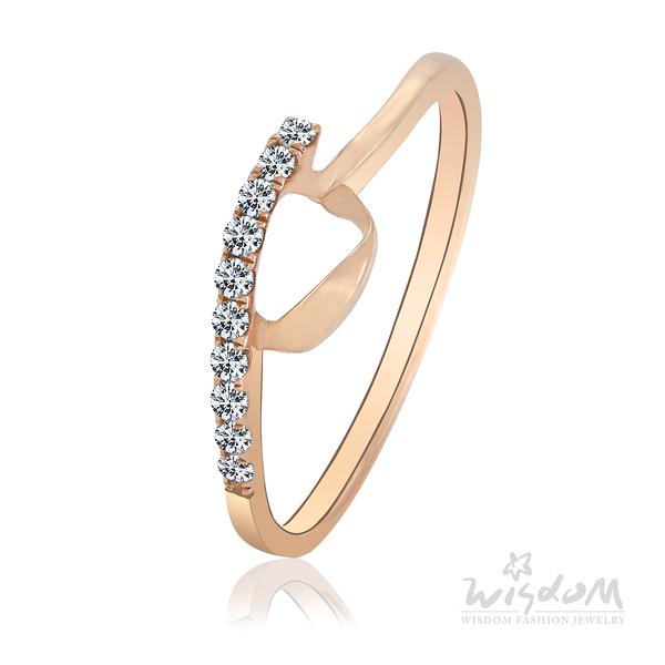 威世登 閃耀之心 玫瑰金鑽石戒指 婚戒推薦 情人節禮物 DA02717-1-AGBXX