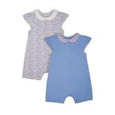 mothercare 粉藍點點短兔裝2入-女嬰兔裝(M0SB043)03M
