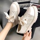 女士樂福鞋 女鞋單鞋新款秋季學生百搭厚底加絨小皮鞋鬆糕樂福鞋秋【快速出貨】
