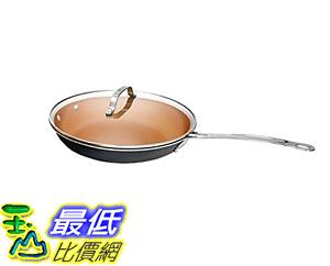 [8美國直購] 陶瓷鍋鈦合金不沾鍋 Gotham Steel Non-stick Titanium and Ceramic 9.5吋 Frying Pan with Lid by Daniel Green