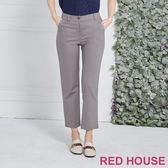 Red House 蕾赫斯-素面修身九分褲(灰色)