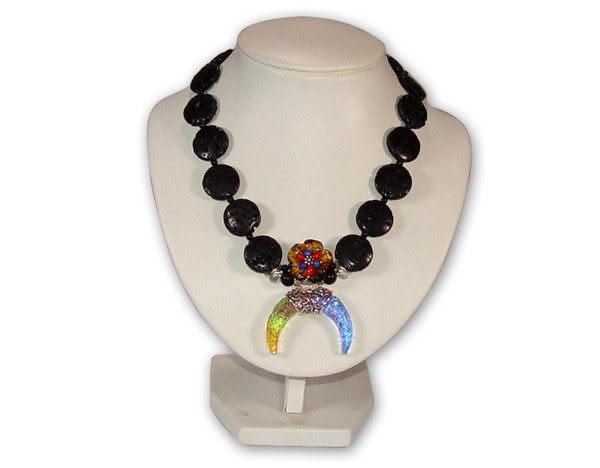 鹿港窯~居家開運琉璃 珠寶 項鍊~望月◆附精美包裝‧免運費送到家