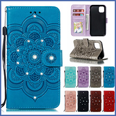 蘋果 iPhone 11 Pro Max 手機皮套 太陽花點鑽皮套 插卡 支架 掀蓋殼 點鑽 皮套 手機殼