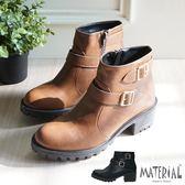 短靴 側邊裝飾扣短靴 MA女鞋 T2693