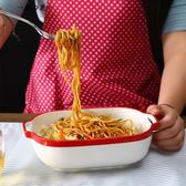 烤盤陶瓷芝士焗飯盤長方形烤箱創意西餐家用菜盤子餐具套裝焗飯碗【櫻花本鋪】