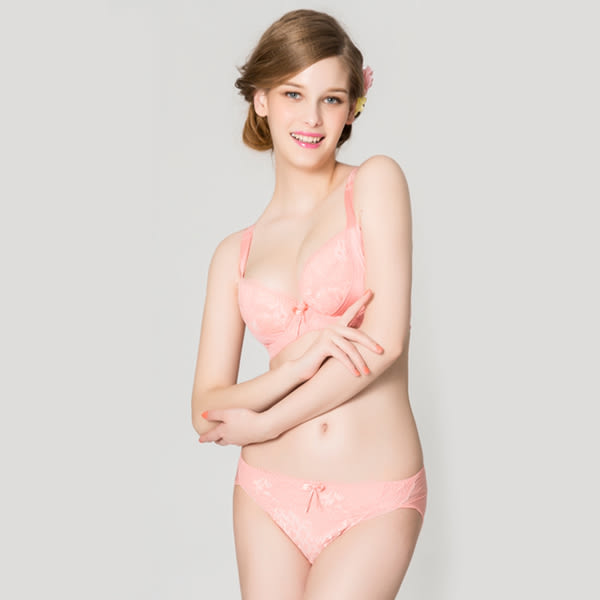 思薇爾-柔挺美學系列B-G罩蕾絲美背塑身內衣(霓粉橘)