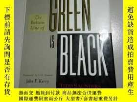 二手書博民逛書店The罕見BOTTOM line OF GREEN IS Bla