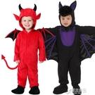 萬聖節兒童服裝巫婆斗篷女巫惡魔蝙蝠披風錶演衣服裝扮男孩女孩 原本良品