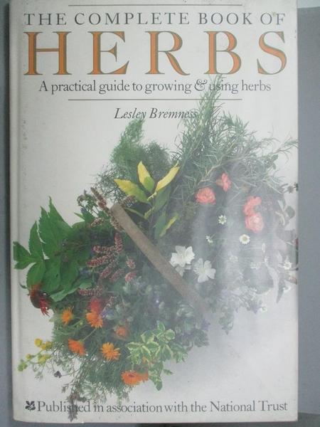 【書寶二手書T2/養生_ZFM】Complete Book of Herbs Hb (The complete book